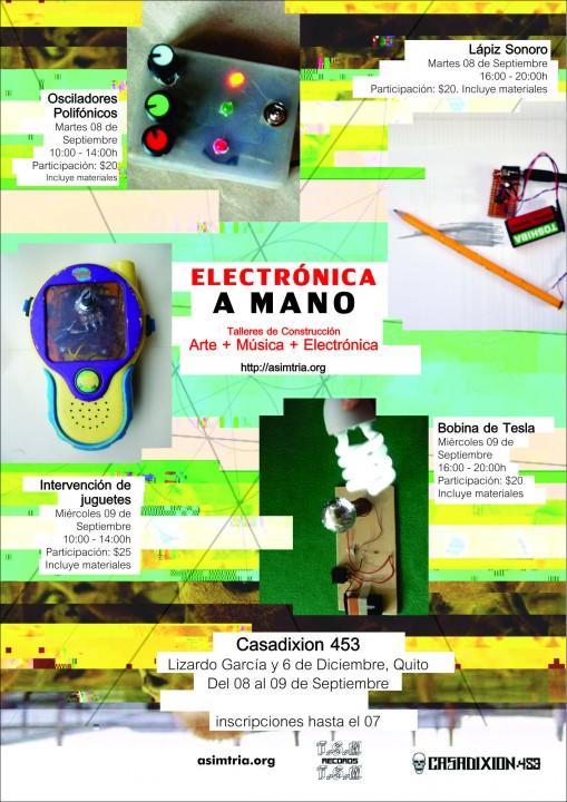Electrónica a Mano – Talleres de Construcción ( Arte + Música + Electrónica) – Quito